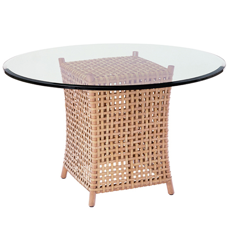mcguire designs woven rawhide dining table 1 Woven Rawhide Dining Table by McGuire Designs   new woven furniture trends