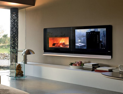 mcz fireplace tv scenario 1 Fireplace TV by MCZ   Scenario