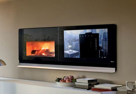 mcz fireplace tv scenario 2 Fireplace TV by MCZ   Scenario