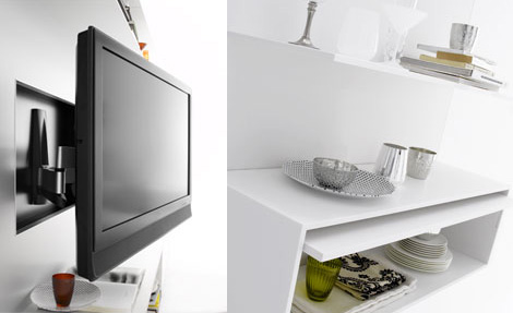 mdf italia elevenfive 08 lcd plasma tv system Plasma TV Wall ElevenFive 08   new by MDF Italia