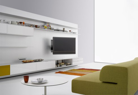 mdf italia elevenfive 08 system Plasma TV Wall ElevenFive 08   new by MDF Italia