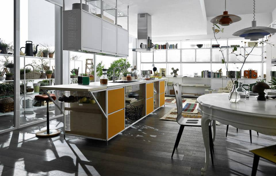 Meccanica Kitchen with fabric doors