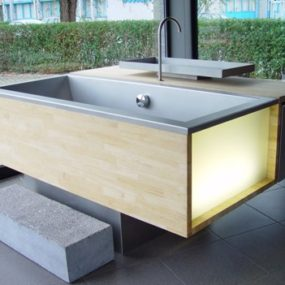 Stainless Steel Bathtub Sink Combo from Meeus