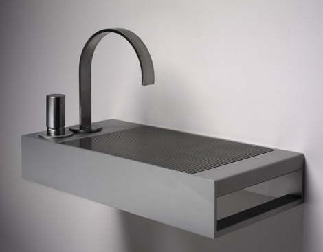 Modern Wash Basins - Stainless Steel basins by Meeus