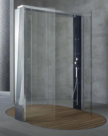 megiusshowerwaterpole Contemporary Shower Cabin from Megius   new Waterpole shower