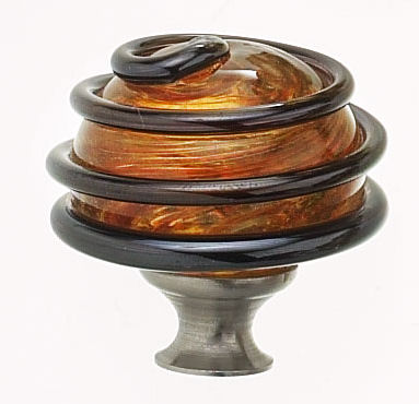 Hot Glass Cabinet Knobs By Megna Handmade Blown Round
