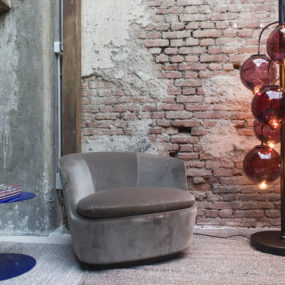 Glass Globe Floor Lamp by Cappellini – Meltdown