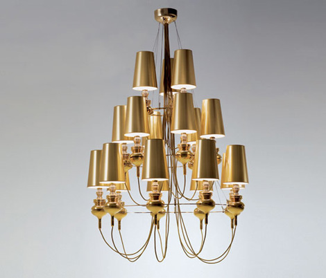 metalarte josephine queen gold chandelier Contemporary Lighting from Metalarte   Josephine Queen lighting range