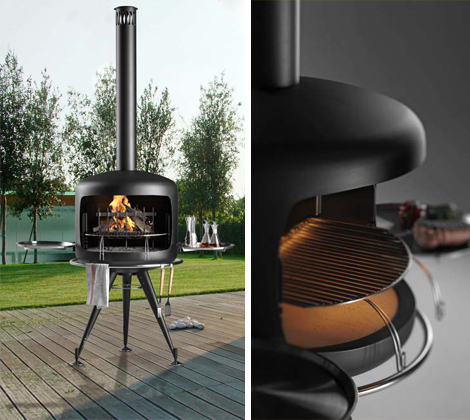 metalcohome barbecue apis 1 Designer Barbeques   Apis barbecue by Metalco