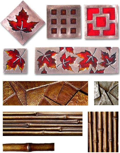 Bronze Tiles from Metaphor Bronze