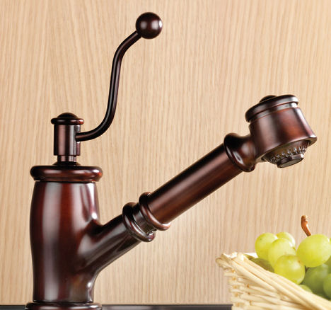 mico seashore kitchen faucet pull out Vintage style kitchen faucet from Mico   the Seashore faucet line