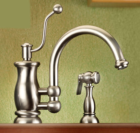mico seashore kitchen faucet spray Vintage style kitchen faucet from Mico   the Seashore faucet line