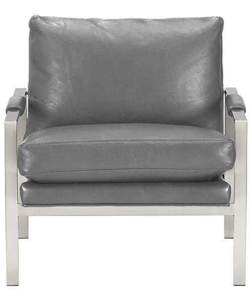 Mid Century Lounge Chair U2013 Milo Classic Leather Lounge Chair From Crate U0026  Barrel