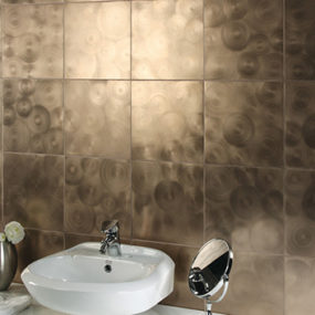 Milled Finish Tile – Metallic Tiles by Evit