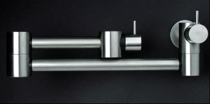 New Mina Twist And Pot Filler Kitchen Faucets All Stainless Steel