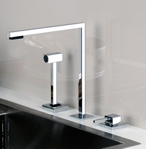 minimal faucet kitchen gessi minimo 3 Minimal Faucet for Kitchen by Gessi – Minimo