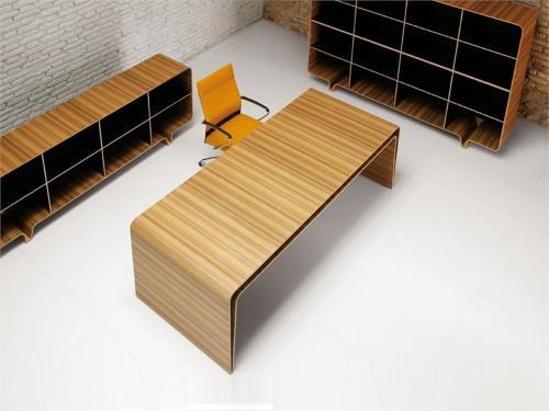 minimalist wood desk mumbai haworth 2 Minimalist Wood Desk by Haworth