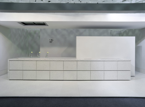 Minotti Kitchen – New Atelier kitchen design in natural stone (Nuova Atelier)