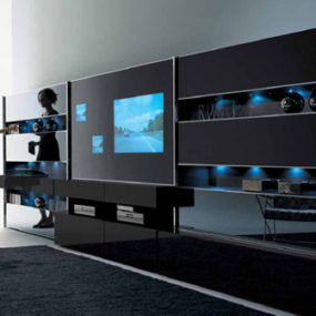 Contemporary Wall Unit by MisuraEmme – Monos modular wall system
