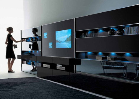 misuraemme wall unit monos 1 Contemporary Wall Unit by MisuraEmme   Monos modular wall system