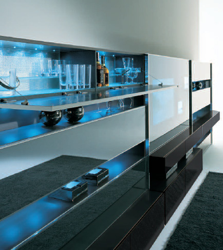 misuraemme wall unit monos 3 Contemporary Wall Unit by MisuraEmme   Monos modular wall system