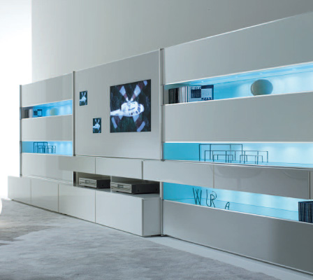 Contemporary Wall Unit by MisuraEmme Monos modular wall system