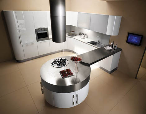 miton kitchen mt 700 6 Ultra Modern Kitchen from Miton   new MT700G