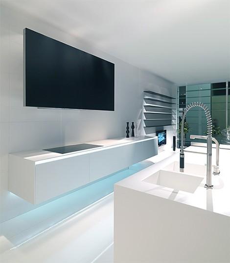 mk style corian kitchen 012 hanging sideboard