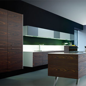 Aero 1 Wood Kitchen from Mobalco – a suspended kitchen to defy gravity?