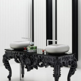 Modern Antique Bathroom Vanities, Consoles, Mirrors – Bisazza Wanders Collection