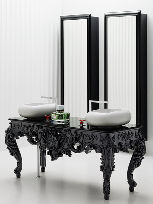 modern antique bathroom vanities bisazza wanders collection 1 Modern Antique Bathroom Vanities, Consoles, Mirrors   Bisazza Wanders Collection
