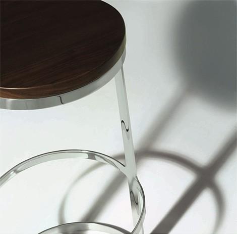 modern bar stools danerka aro detail Modern Bar Stools from Bernhardt by Danerka   Aro stool