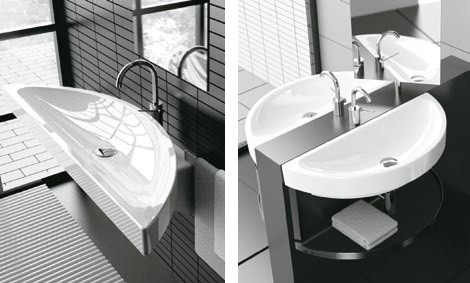 modern bathroom ideas cielo double oval sink Modern Bathroom Ideas from Cielo – New for 2008