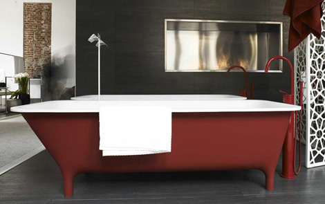 modern bathtub on legs zucchetti kos morphing 2 Modern Bathtub on Legs by Zucchetti / Kos – new Morphing