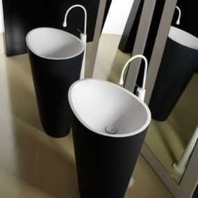 Modern Black and White Bathroom Fixtures by Mastella