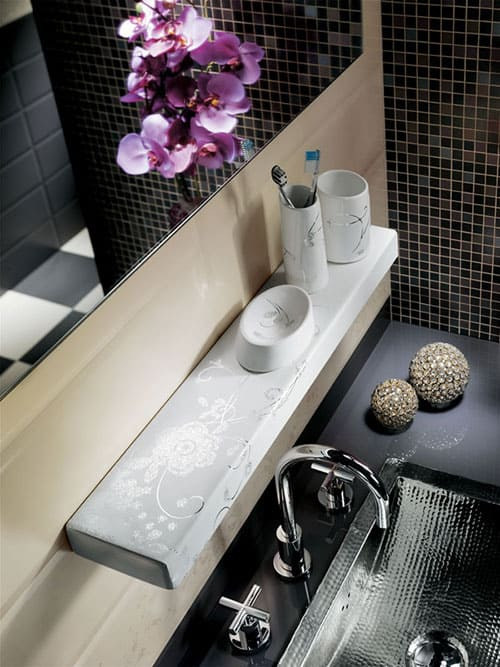modern ceramic bathroom accessories fap ceramiche mensola papageno 2 Modern Ceramic Bathroom Accessories by Fap Ceramiche