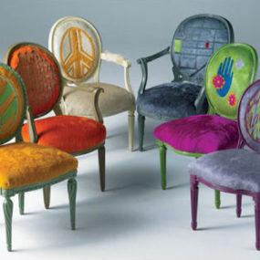 Modern Cowhide Furniture – new Hide Furniture by Kyle Bunting