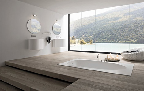 modern elegant bathrooms vela black white rexa 2 Modern Elegant Bathrooms   Vela bathroom in black & white by Rexa