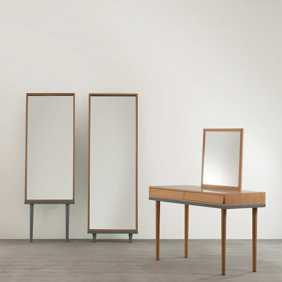 View In Gallery Modern Floor Standing Mirrors On Legs Oak