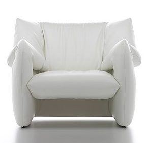 Modern Leather Armchair – designer chair by Tokujin Yoshioka