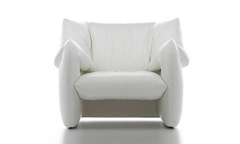 Modern Leather Armchair designer chair by Tokujin Yoshioka