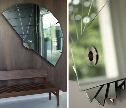 modern mirror art porada sensu 3 Modern Mirror Art by Porada   Sensu fan like mirrors