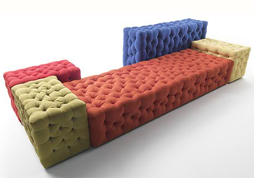 Modern Modular Sofa - button tufted La Michetta by Meritalia