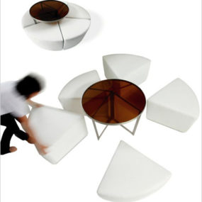 Modern Outdoor Stools – outdoor sectional 'Cake' by Jane Hamley Wells