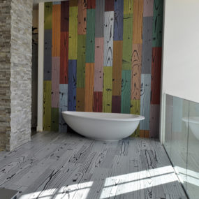 Modern Porcelain Floor Tile – patterned and colored