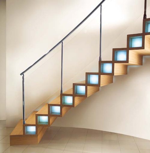 modern wood stairs design marretti 1