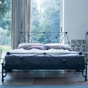 Modern Wrought Iron Bed – Astro by Ciacci