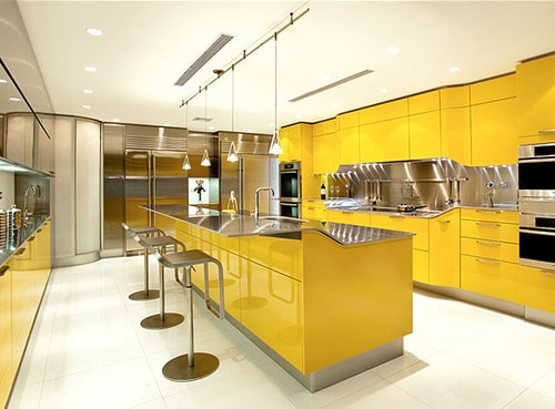 modern yellow kitchen snaidero venus 1 thumb Modern Yellow Kitchen by Snaidero