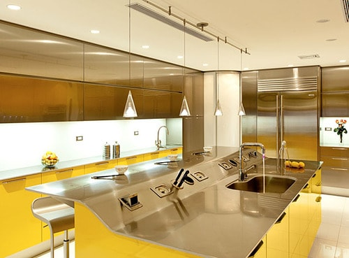 modern yellow kitchen snaidero venus 2 thumb Modern Yellow Kitchen by Snaidero