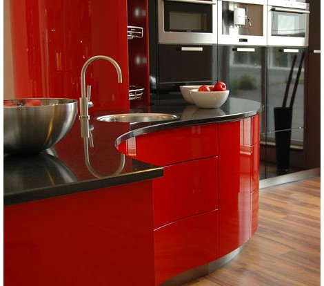 modium kitchen ferrari rot 1 Luxury Kitchen Designs   Ferrari kitchen